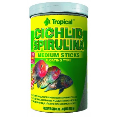 Tropical Cichlid Spirulina Medium Sticks 1000ml