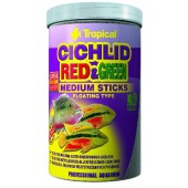 Tropical Cichlid Red & Green Medium Sticks